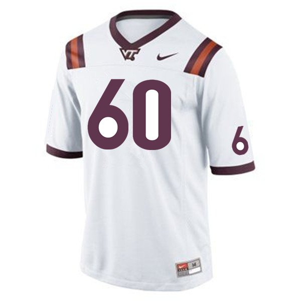 Men #60 Silas Dzansi Virginia Tech Hokies College Football Jerseys Sale-Maroon